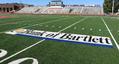 Bank of Bartlett field at Bartlett High School